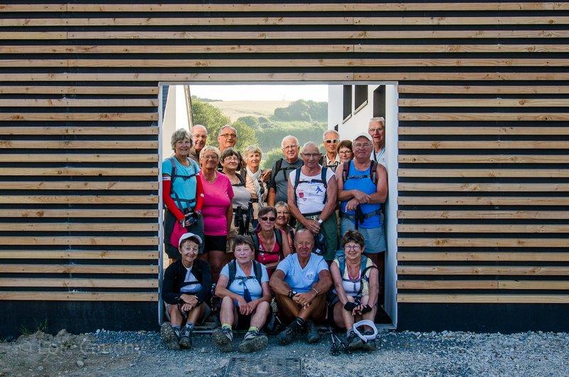 Le groupe au départ du centre nautique